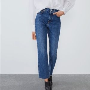 🆕 NWT Zara Straight High Rise Jeans 💛